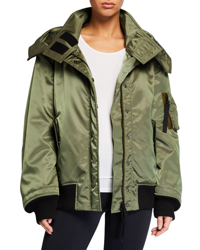 Double-Layer Hooded Jacket