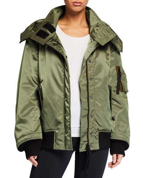 Reebok by Victoria Beckham Double-Layer Hooded Jacket