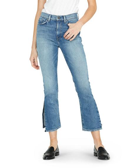 Hudson Holly High-Rise Crop Flare Jeans with Split Hem