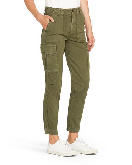 Hudson High-Rise Straight-Leg Cargo Pants