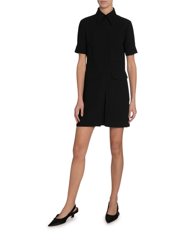 Victoria Victoria BeckhamShort-Sleeve Pocket Dress