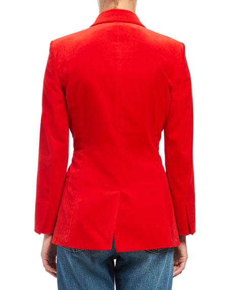 Theory Cinched Stretch Velvet Blazer