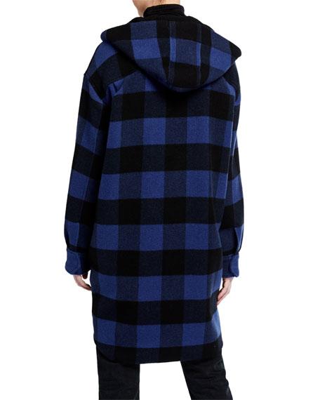 Rag & Bone Beck Plaid Long Coat