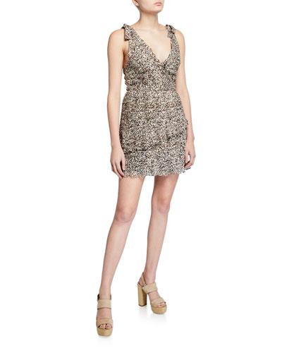 Superbloom Leopard-Print Ruffle Dress