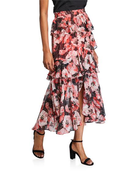 MISA Los Angeles Kiana Long Tiered Skirt