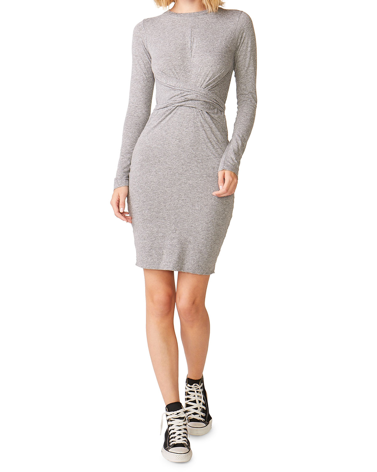 Wrapped Long Sleeve Tee Dress by Monrow
