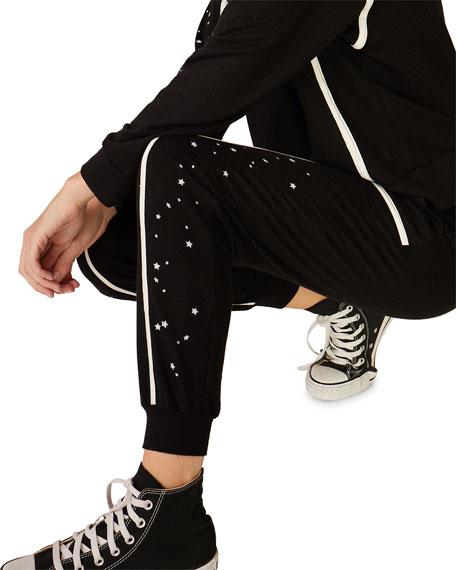 Monrow Super Soft Skinny Sweatpants with Seamed Binding