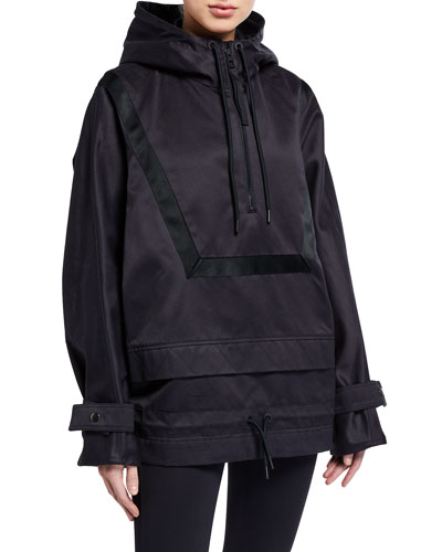 Hooded 1/4-Zip Anorak Jacket