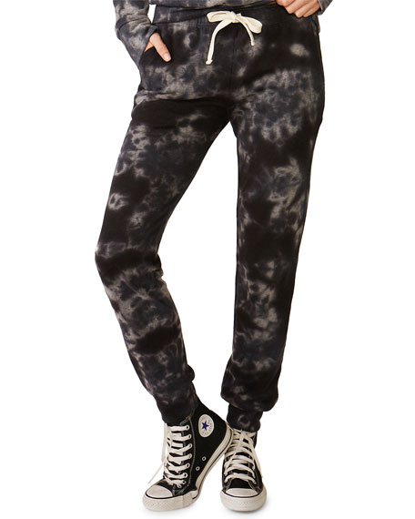 Monrow Crystal Tie-Dye Girlfriend Sweatpants