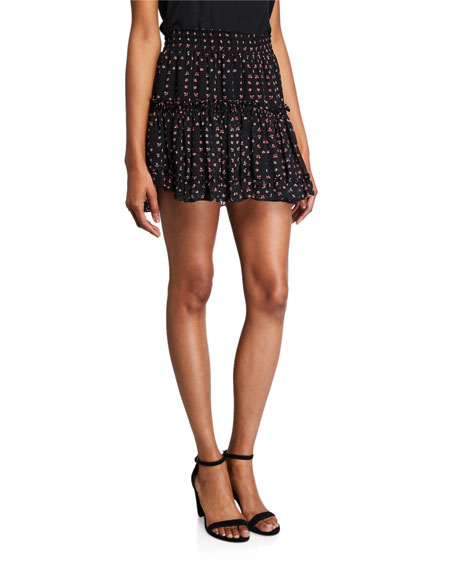 MISA Los Angeles Willa Tiered Mini Skirt
