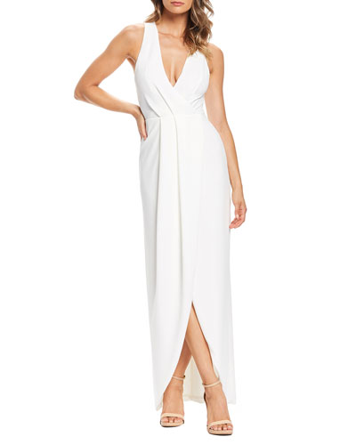Ariel Sleeveless High-Low Gown