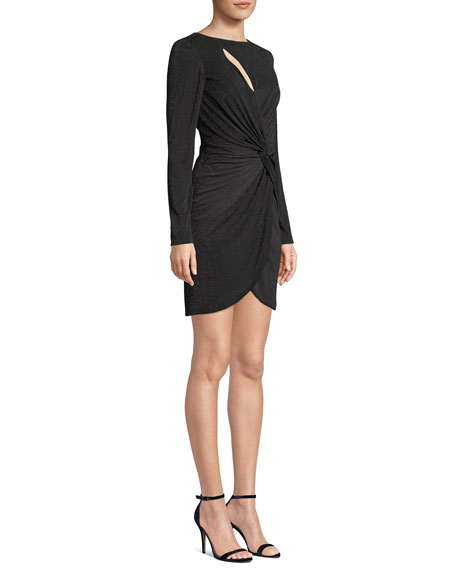Dress The Population Colby Ribbed Grecian-Knot Dress