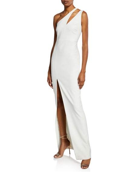 Image 1 of 2: Likely Roxy One-Shoulder Body-Con Gown w/ Front Slit