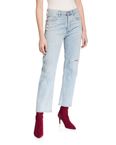 McKenzie Curved Straight-Leg Jeans