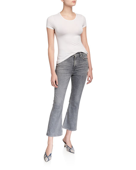 Citizens of Humanity Demi Cropped High-Rise Flare Jeans
