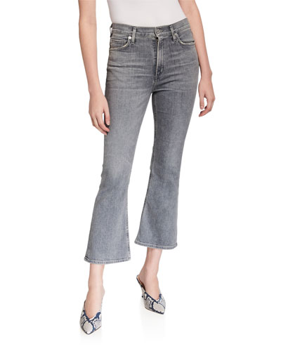 Demi Cropped High-Rise Flare Jeans