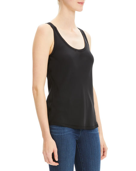 Theory Scoop-Neck Georgette Tank Top