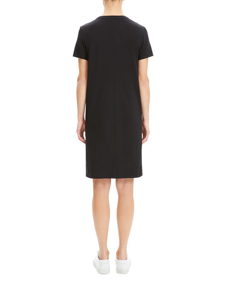Theory Continuous Rubric Stretch-Knit Short-Sleeve Tee Dress