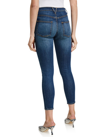 Image 2 of 3: Veronica Beard Jeans Debbie High-Rise Cropped Skinny Jeans