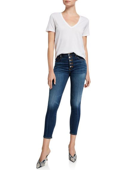 Veronica Beard Debbie High-Rise Cropped Skinny Jeans