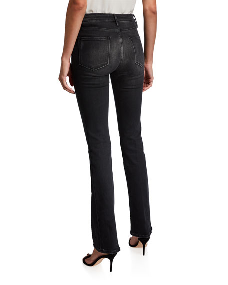 FRAME Le Mini Boot-Cut Jeans with Exposed Buttons