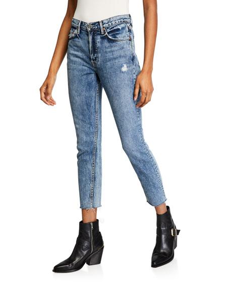 GRLFRND Karolina High-Rise Cropped Distressed Skinny Jeans - Almost Gone