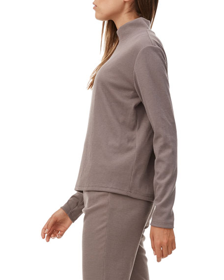 All Fenix Lyla Ribbed Long-Sleeve Turtleneck Top