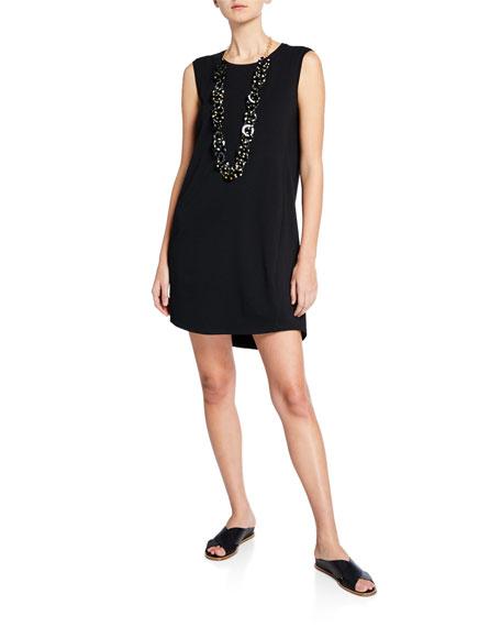 Eileen Fisher Crewneck Sleeveless Jersey Dress