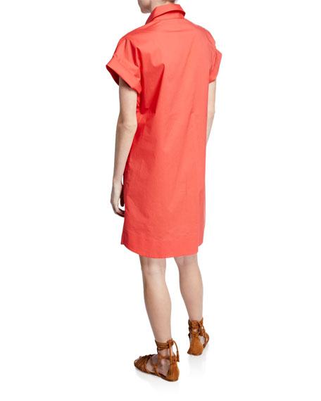 Finley Petite Charlie Button-Front Short-Sleeve Dress