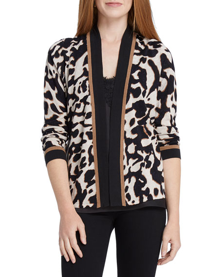 NIC+ZOE Plus Size Leader Of The Pack Animal-Print Cardigan