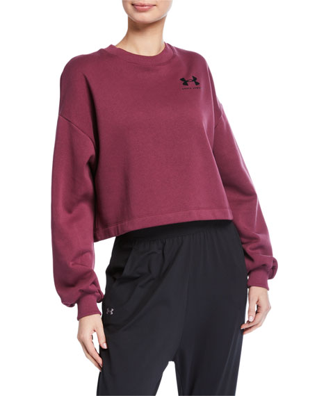 Under Armour Rival Fleece Graphic LC Crewneck Sweatshirt, Purple