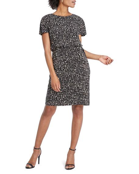 NIC+ZOE Letterpress Short-Sleeve Dress