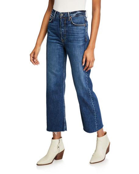 GRLFRND Bobbi High-Rise Cropped Wide-Leg Jeans - Viva Forever