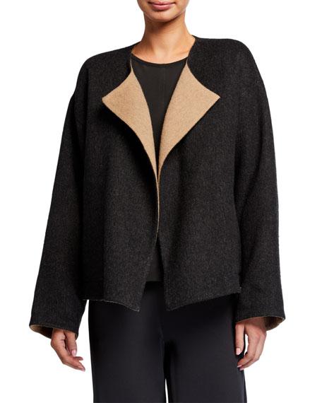 Eileen Fisher Reversible Double Face Short Coat