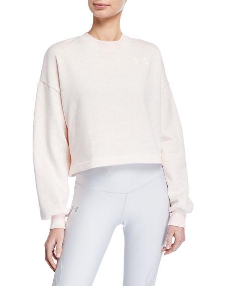 Under Armour Rival Fleece Graphic LC Crewneck Sweatshirt, Pink