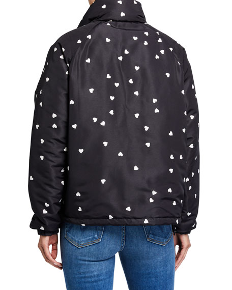 Opening Ceremony Reversible Heart-Print Quilted Puffer Jacket