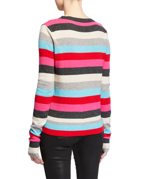 Pam & Gela Striped Pullover Sweater