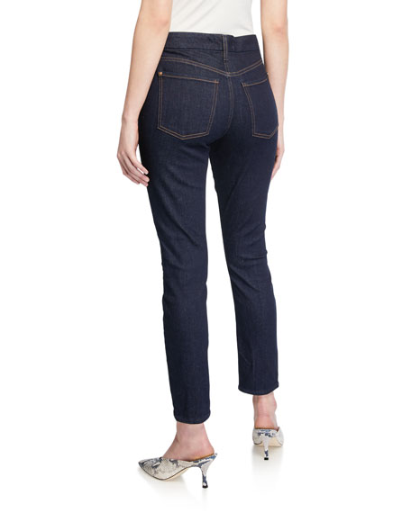 Jen7 by 7 for All Mankind Ankle Skinny Jeans with Front Split