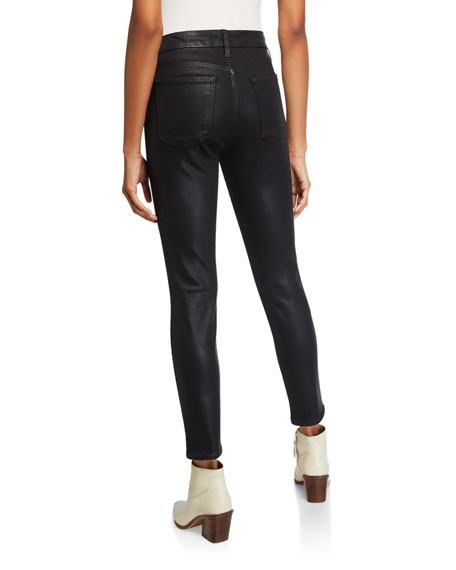 Jen7 by 7 for All Mankind Coated Ankle Skinny Jeans