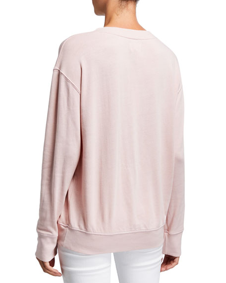 Sundry Yoked Amour Graphic Pullover