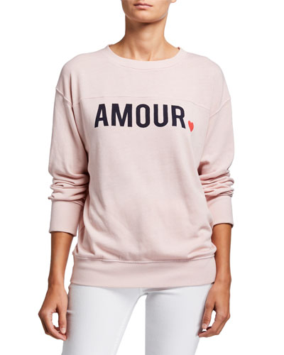 Yoked Amour Graphic Pullover