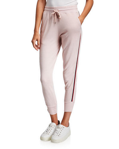 Tapered Side-Stripe Sweatpants