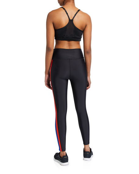 PE Nation Jump Start Side-Stripe Active Leggings