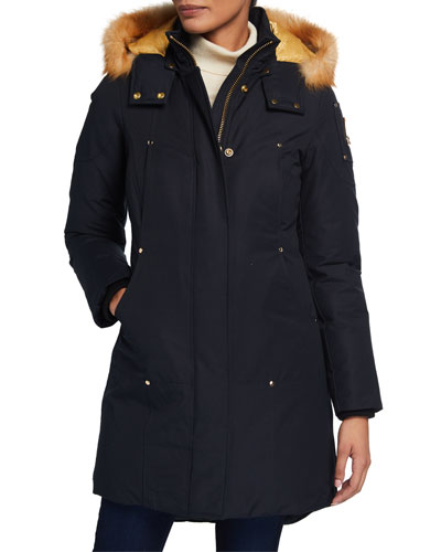 Grand Metis Fox Fur-Trim Parka w/ Detachable Hood