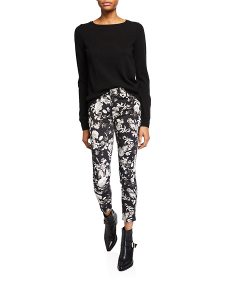 Jen7 by 7 for All Mankind Printed Ankle Skinny Jeans