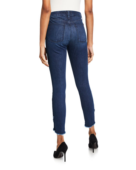 Jen7 by 7 for All Mankind Ankle Skinny Scallop-Hem Jeans