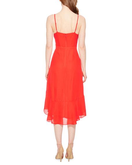Parker Colleen Sleeveless Wrap-Front Dress