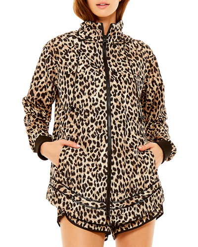 Ash Leopard-Print Hooded Jacket