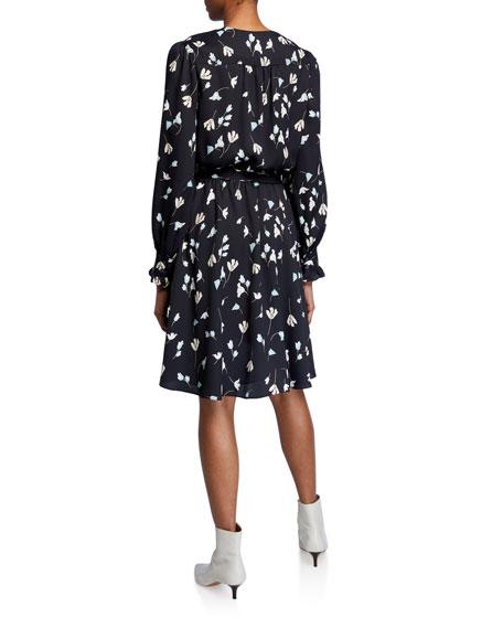 Joie Marlayne Floral-Print Tie-Waist Dress