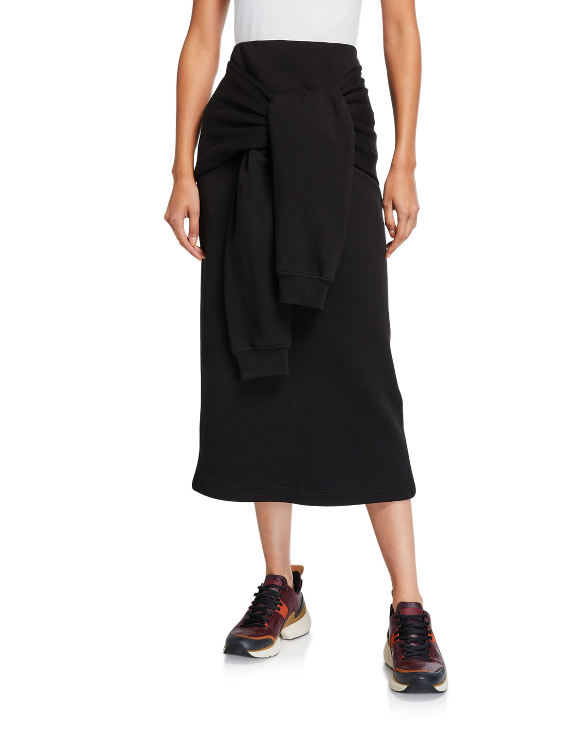 Knotted Sleeve Midi Skirt by Mc Q Alexander Mc Queen